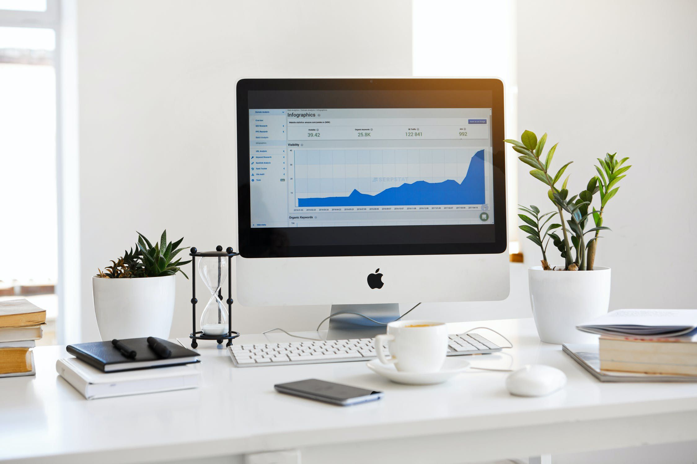 igital marketing analytics on a monitor